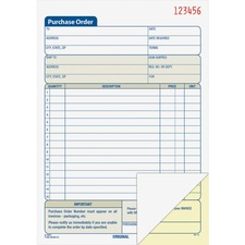 ABF DC5831 Adams Carbonless Purchase Order Statement ABFDC5831