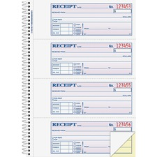 ABFSC1182 - Adams Spiral 2-part Money/Rent Receipt Book