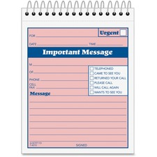 ABF SC9711D Adams Spiral-bound Phone Message Booklet ABFSC9711D