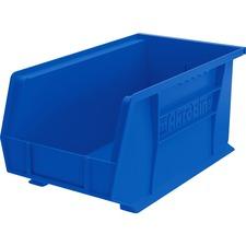 "Akro-Mils Akrobins Storage Bins - 7"" Height x 8.3"" Width x 14.8"" Depth - Rack-mountable - Blue - Polymer - 1Each"