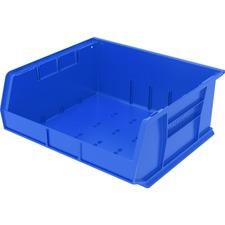 "Akro-Mils Akrobins Storage Bins - 7"" Height x 16.5"" Width x 14.8"" Depth - Rack-mountable - Blue - Polymer - 1Each"
