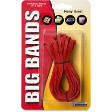 "Alliance Rubber Big Bands Rubber Bands - 7"" (177.80 mm) Length x 0.13"" (3.18 mm) Width - 12 / Pack - Red"