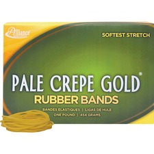 ALL20165 - Alliance Rubber 20165 Pale Crepe Gold Rubber Bands - Size #16