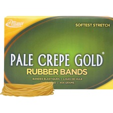 ALL 20195 Alliance 1lb Box Pale Crepe Gold Rubber Bands ALL20195