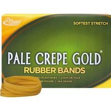 ALL 20325 Alliance 1lb Box Pale Crepe Gold Rubber Bands ALL20325