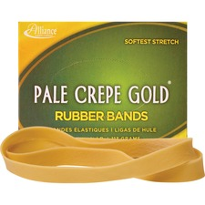 ALL 21079 Alliance 1/4lb Box Pale Crepe Gold Rubber Bands ALL21079