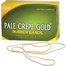 ALL 21405 Alliance 1lb Box Pale Crepe Gold Rubber Bands ALL21405