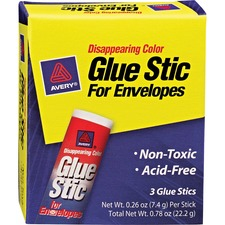 Avery Disappearing Color Permanent Glue Stic for Envelopes