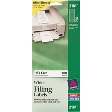 AVE2181 - Avery® Mini-Sheets Permanent File Folder Labels