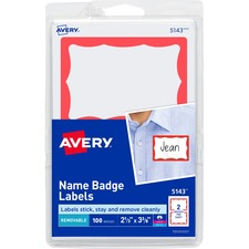 AVE 5143 Avery Self-Adhesive Print / Write Name Badges AVE5143