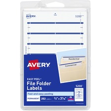 AVE 05200 Avery Permanent 1/3 Cut File Folder Labels AVE05200