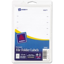 AVE 05202 Avery Permanent 1/3 Cut File Folder Labels AVE05202