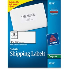 AVE 5352 Avery White Copier Mailing Address Labels AVE5352