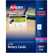 AVE 5386 Avery Laser/Inkjet Rotary Cards AVE5386