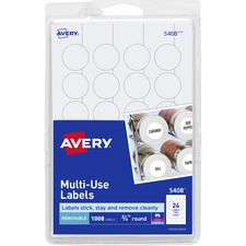 AVE 05408 Avery Print or Write Multi-Use Round Labels AVE05408