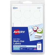 AVE 05410 Avery Print or Write Multi-Use Round Labels AVE05410
