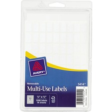 AVE 05414 Avery White Removable Multi-Use Labels AVE05414