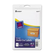 AVE 05436 Avery Removable Print/Write Rectangular Labels AVE05436