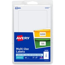 AVE 05450 Avery Removable Print/Write Rectangular Labels AVE05450