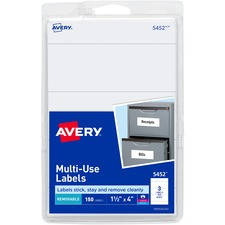 AVE 05452 Avery Removable Print/Write Rectangular Labels AVE05452