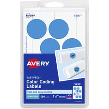 AVE 05496 Avery Custom Print Round Color-coding Labels AVE05496