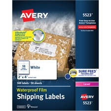 AVE 5523 Avery Weatherproof Mailing Labels AVE5523