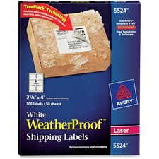 AVE5524 - Avery&reg WeatherProof Mailing Labels with TrueBlock Technology