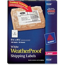 AVE5526 - Avery&reg WeatherProof Mailing Labels with TrueBlock Technology