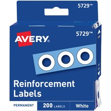 AVE 05729 Avery White Self-Adhesive Reinforcement Labels AVE05729