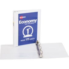 AVE05806 - Avery&reg Economy View Binders with Round Rings - with Merchandising