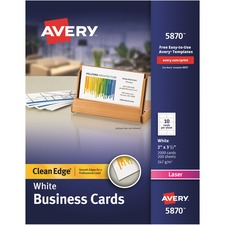 AVE 5870 Avery Laser Print 2-Sided Business Cards AVE5870