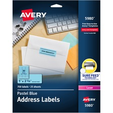 AVE5980 - Avery® Neon Rectangular Labels for Laser and/or Inkjet Printers