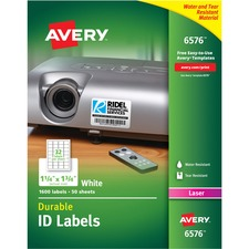 AVE 6576 Avery Permanent Durable ID Laser Labels AVE6576