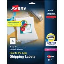 AVE6874 - Avery&reg White Print-to-the-Edge Shipping Labels