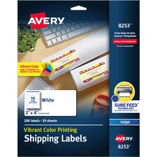 AVE8253 - Avery® Vibrant Color Printing Shipping Labels