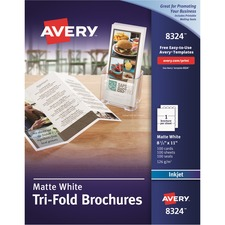AVE8324 - Avery&reg Inkjet Print Brochure/Flyer Paper