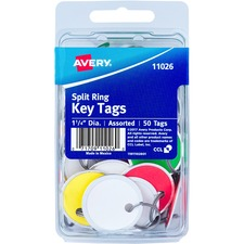 AVE 11026 Avery Round Split Ring Key Tags AVE11026