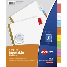 AVE 11123 Avery Worksaver Big Insertable Tab Index Dividers AVE11123