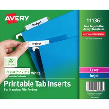 AVE11136 - Avery&reg Tab Inserts for Hanging File Folders