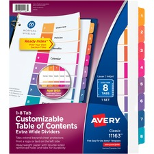 AVE11163 - Avery&reg Ready Index Customizable Table of Contents Extra-Wide Dividers