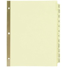 AVE 11307 Avery Preprinted Laminated Monthly Tab Dividers AVE11307