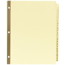 AVE 11308 Avery Preprinted 1-31 Laminated Tab Dividers AVE11308