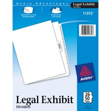 AVE11372 - Avery&reg Premium Collated Legal Exhibit Divider Sets - Avery Style