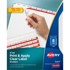 AVE11417 - Avery® Index Maker Print & Apply Clear Label Dividers with White Tabs