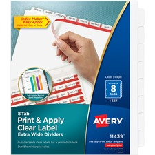 AVE 11439 Avery Index Maker Extra-Wide Tab Dividers AVE11439