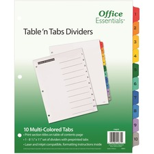 AVE 11671 Avery Table 'N Tabs Numeric Dividers AVE11671