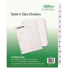 AVE11672 - Avery&reg Office Essentials Table 'n Tabs Dividers