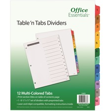 AVE11673 - Avery&reg Office Essentials Table 'n Tabs Dividers