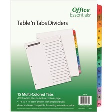 AVE11675 - Avery&reg Office Essentials Table 'n Tabs Dividers
