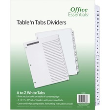 AVE11676 - Avery&reg Office Essentials Table 'n Tabs Dividers